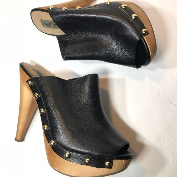 210dcacb37e Steve Madden Black Daynty Mules Clogs Size 8.5M. M 5a3d106b00450f522e01aa7f